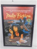 """Signed Pulp Fiction Movie Poster with COA 34.5""""x24.5"""""""