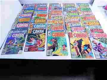 Lot of 35 Vintage Conan the Barbarian Comic Books