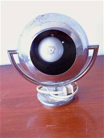 Mid Century Chrome Eyeball Lamp Works