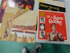 18 Vinyl Records incl 3 Sam Cooke , 3 Diana Ross ,