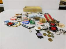 Lot of Misc Smalls incl a Boy Scout Whistle , Old