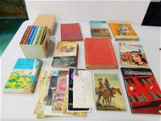 Lot of Books and Ephemera incl Vintage Greeting Cards,