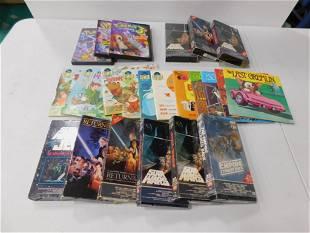 Lot of Star Wars VHS , 3 Pokemon DVDs , 11 Children's