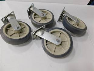 """Set of 4 Casters 7.5"""" Wheels"""