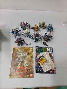 10 Toy Mobile Suit Gundham Wing Robot Action Figures