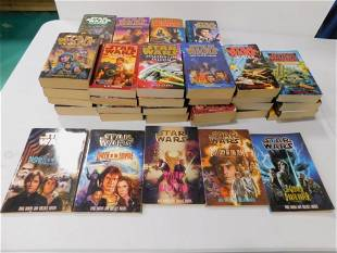Large Lot of Star Wars Paperback Books