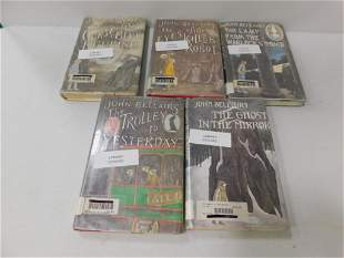 Lot of 5 Books incl 4 John Bellairs 1st Editions and