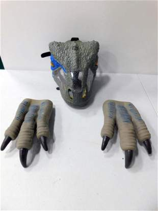 Dinosaur Raptor Costume with Mask and Claws