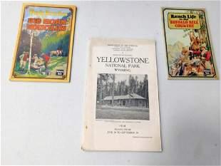 Vintage Ephemera incl 1924 Yellowstone National Park