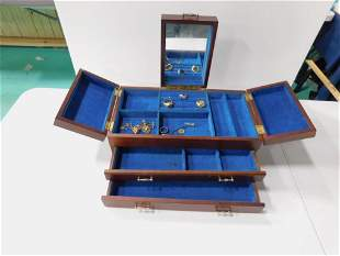 Vintage Jewelry Box with Costume Jewelry