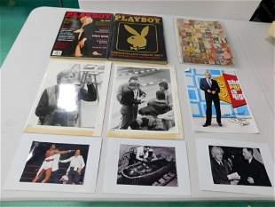 Ephemera Lot incl 2 Playboy Magazines, 4 Black and