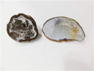 2 Polished Geodes