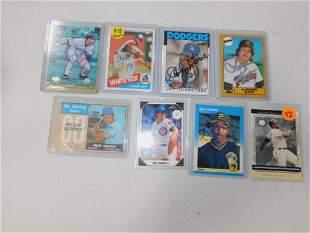 Lot of 8 Baseball Cards incl Autographed Lamar Hoyte ,