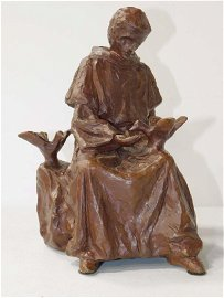 Charles E Gagnon Bronze Statue 1967