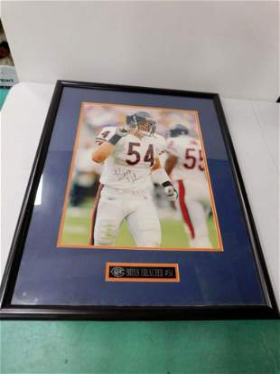 Autographed Print Signed Brian Urlacher with COA Framed