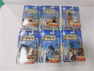 6 Star Wars Attack of the Clones Figures New in Package