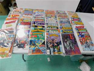 Approx 50 Comics incl Marvel and DC , incl Batman ,