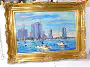 Mort Luby Jr Original Oil on Canvas Dated 2001 Measures