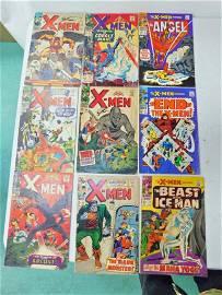 9 Vintage Comic Books incl The X-Men , The X-Men