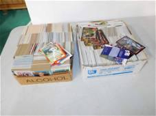 Box of Football Cards and a Box of Baseball Cards