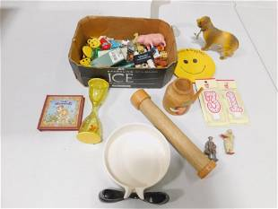 Lot of Smalls incl Lead Figures , Toy Figures , Ashtray