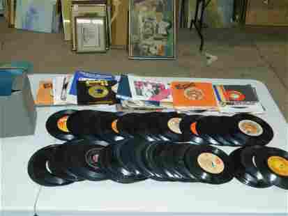 Lot of 45 RPM Vinyl Records incl The Beatles , Humble
