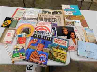 Vintage Ephemera Lot incl Chicago Bears , Chicago Cubs