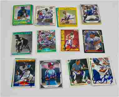 Lot of 50+ Signed Baseball Cards - Sandberg, Dawson +++