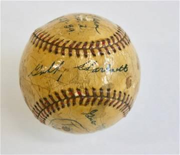 Dizzy Dean, Stan Hack, Gabby Hartnett Signed Baseball
