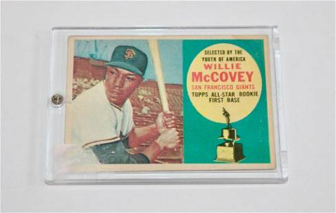 1960 Topps Baseball Card #316 Willie McCovey Rookie
