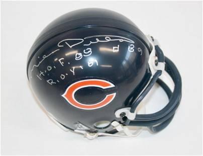 Mike Ditka Signed Mini Helmet