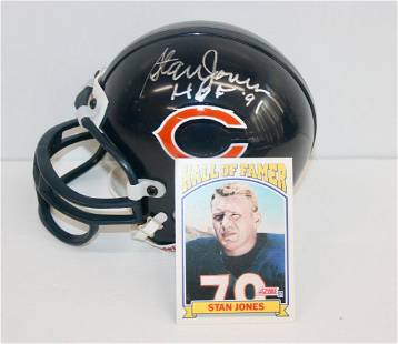 Bears Stan Jones Signed Mini Helmet