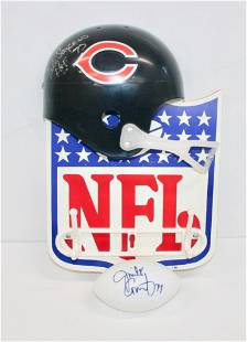 Bears Helmet Hat Rack Signed By Gale Sayers