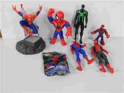 Spider Man Action Figures and a Superman Puzzle
