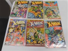 Lot of 6 Vintage Xmen Comic Books 20 cent and 25 cent