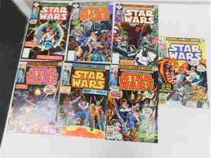 Lot of 7 Vintage Star Wars Comic Books all are 35 cent