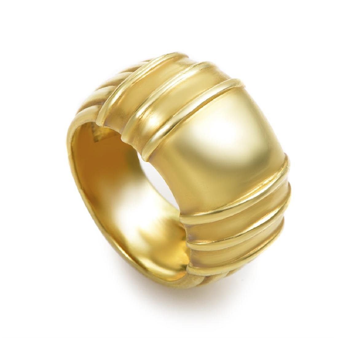 Judith Ripka Women's Carved 18K Yellow Gold Band