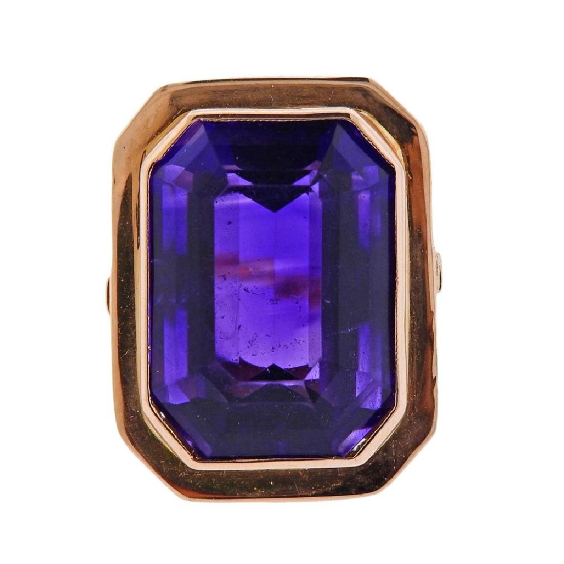 14K Gold Amethyst Cocktail Ring