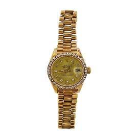 Rolex President Diamond 18k Gold Champagne Dial