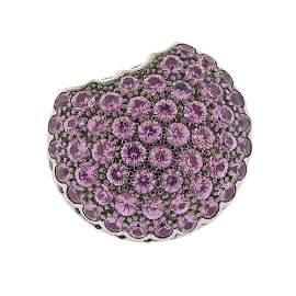 Boucheron  Macaron 18K Gold Ruby Sapphire Ring
