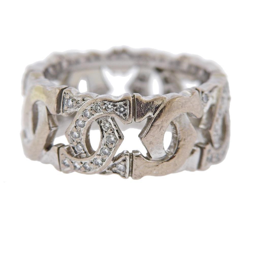Cartier CC 18K Gold Diamond Band Ring