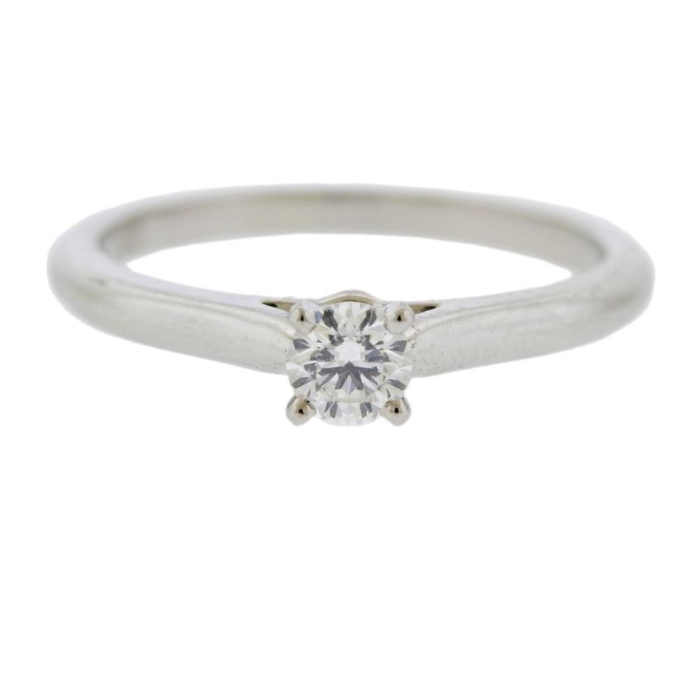 Cartier Platinum Diamond Engagement Ring 48