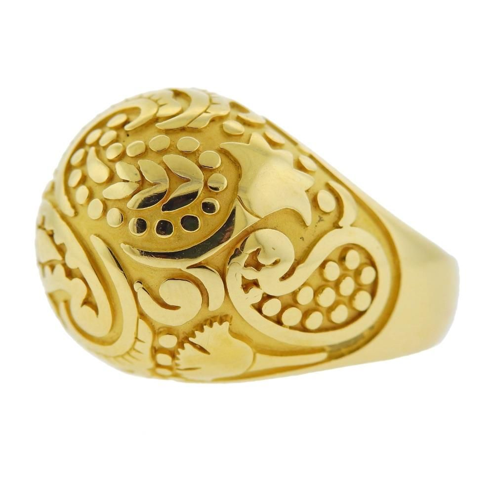 Carrera Y Carrera 18K Gold Aqua Dome Ring