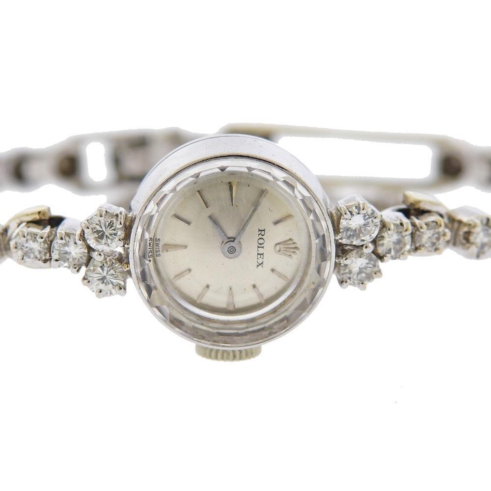 Rolex Vinage 14k Gold Diamond Watch Bracelet