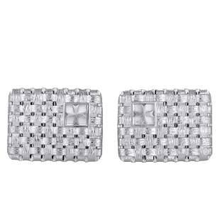 Vacheron Constantin 18K WG Woven Rectangle Cufflinks