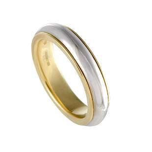 Pomellato 18K YG & WG Wedding Ring Size 8.0