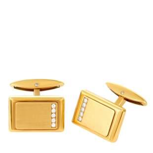 Chopard 18K Yellow Gold 0.15ct Diamond Cufflinks
