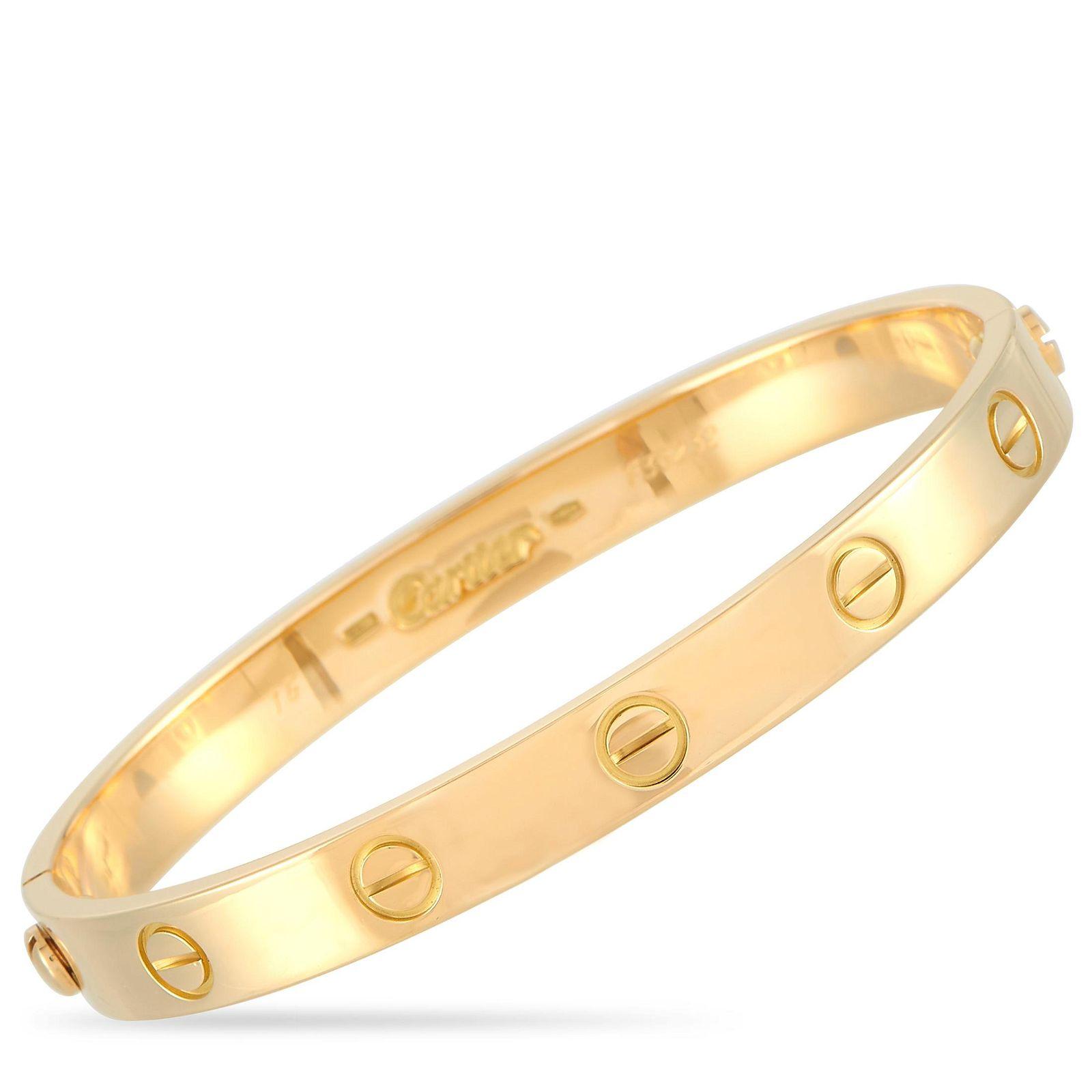 Cartier LOVE 18K YG Bracelet / Screwdriver Size 16