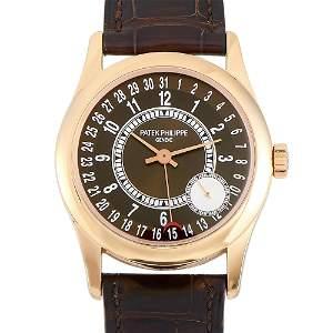 Patek Philippe Calatrava 18K Rose Gold Watch 6000R001