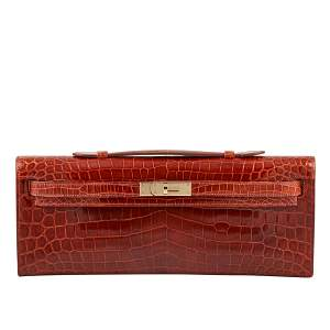 Hermes Kelly 31cm Miel Lisse Porosus Crocodile Handbag